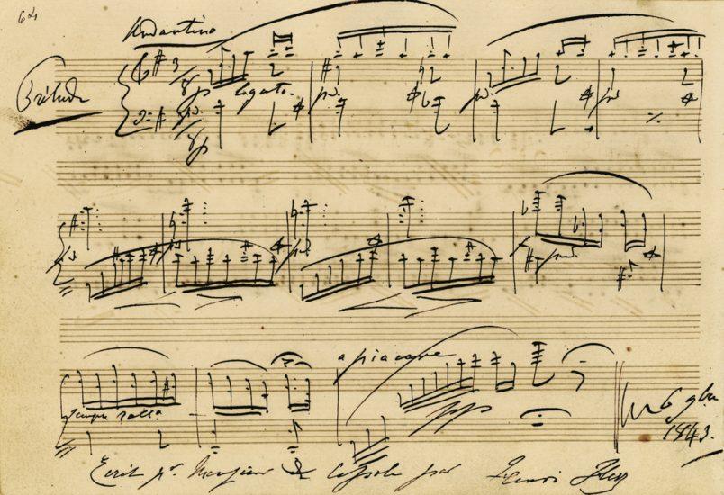 Autographe de Henri Herz, Album d'autographes d'Eugène de Cessole.