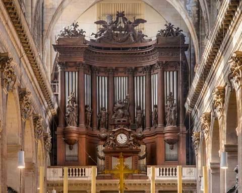 Le buffet de l'orgue de Saint-Sulpice © Bastien Milanese