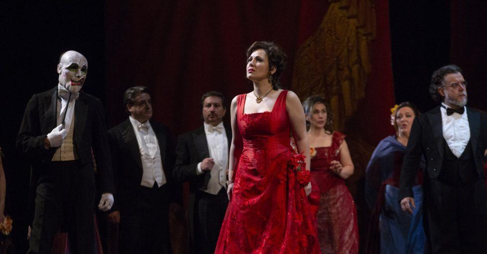 Nino Machaidze (Violetta) in La Traviata © 2018 Teatro di San Carlo