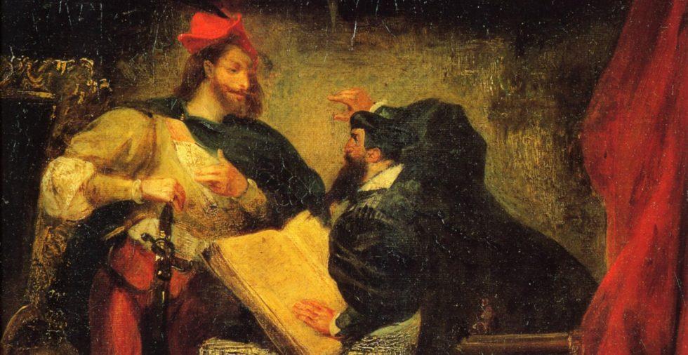 Eugène Delacroix, Faust & Méphistophélès (1827)