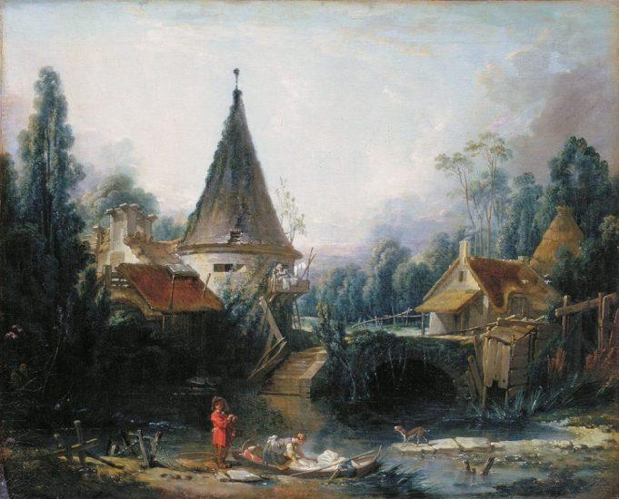 Paysage près de Beauvais, François Boucher, 1740