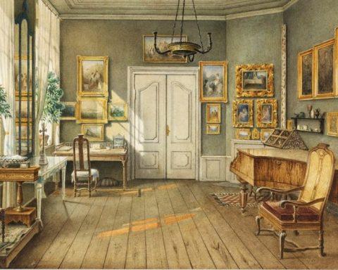 Julius Helfft, La salle de musique de Fanny Hensel, née Mendelssohn Bartholdy dans sa maison à Berlin