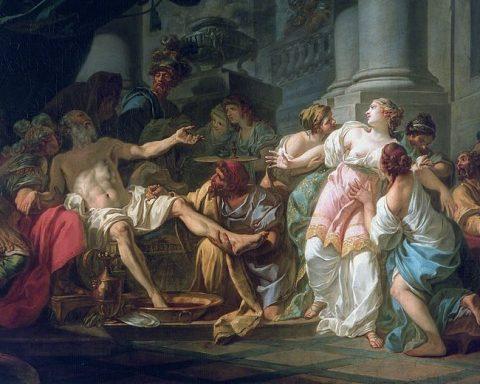 La mort de Sénèque. J.L. David (1773). Musée du Petit Palais, Paris