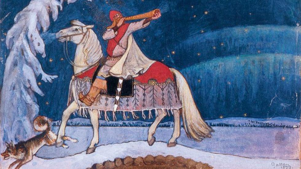 Akseli Gallen Kallela : Kullervo part en guerre (1899) A la loupe