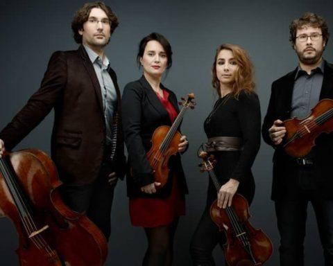 Le quatuor Psophos © Denis Rouvre