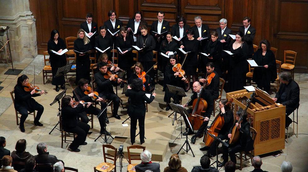 L'ensemble vocal et instrumental Zoroastre dirigé par Savitri de Rochefort