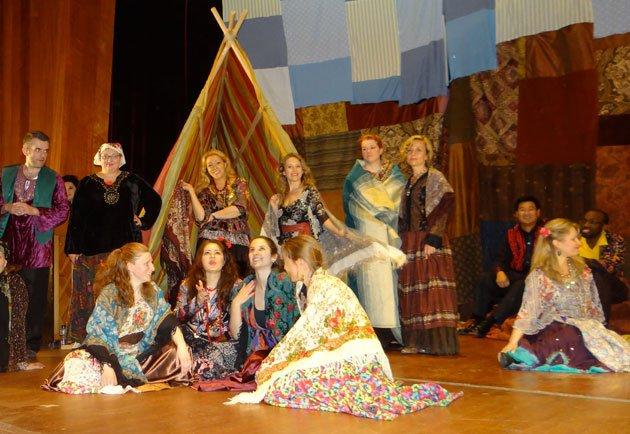 A Gypsy encampment?
