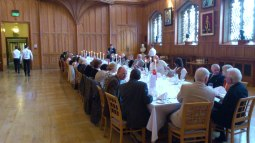 Discussion Continues Over Dinner in the Great Hall of QUB