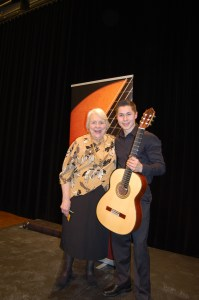 Mariela Rago and second-prize winner Moritz Kraus