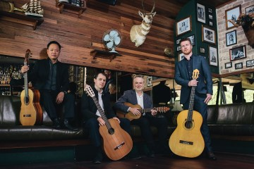 Letter from Down Under Classical Guitar Magazine Guitar Trek (Photo credit Rohan Thomson. Left to right Minh le Hoang, Bradley Kunda, Tim Kain, Matt Withers)