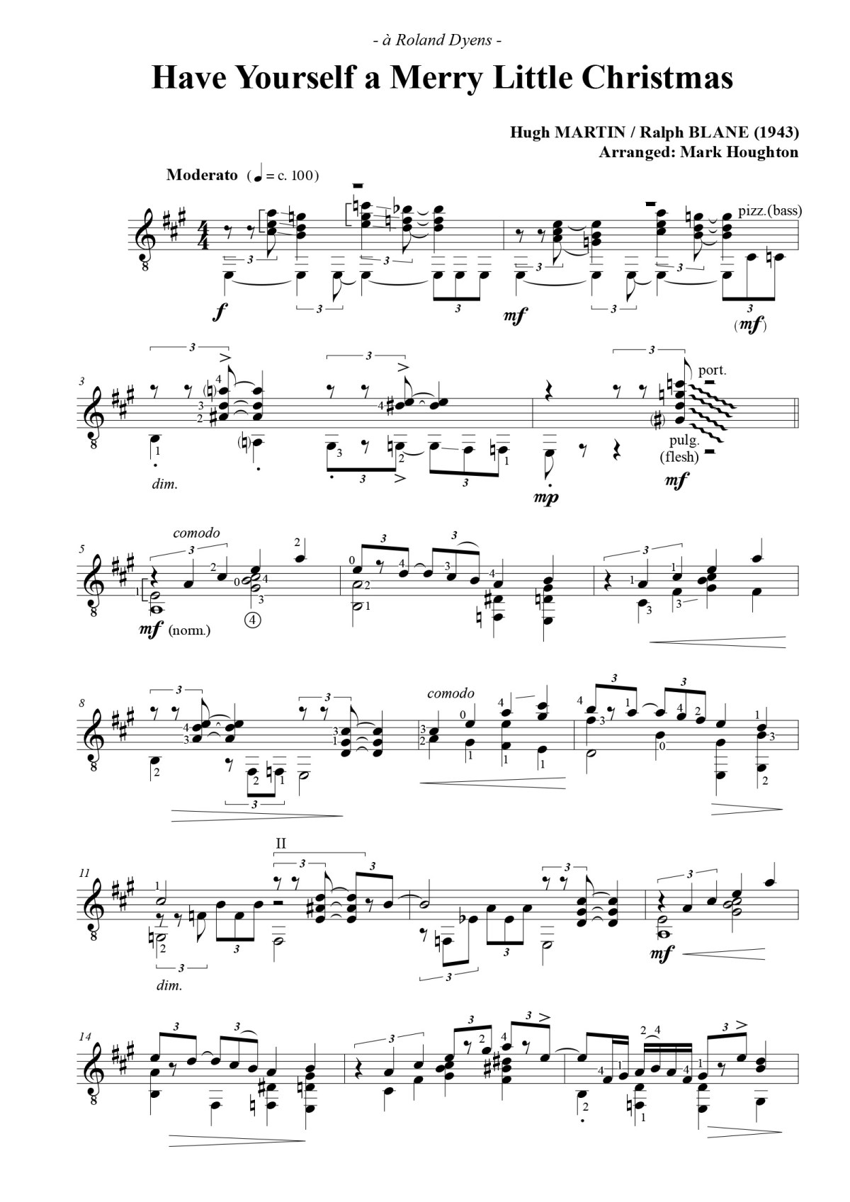 Have Yourself A Merry Little Christmas Chords.Play Mark Houghton S Dyens Inspired Version Of Have