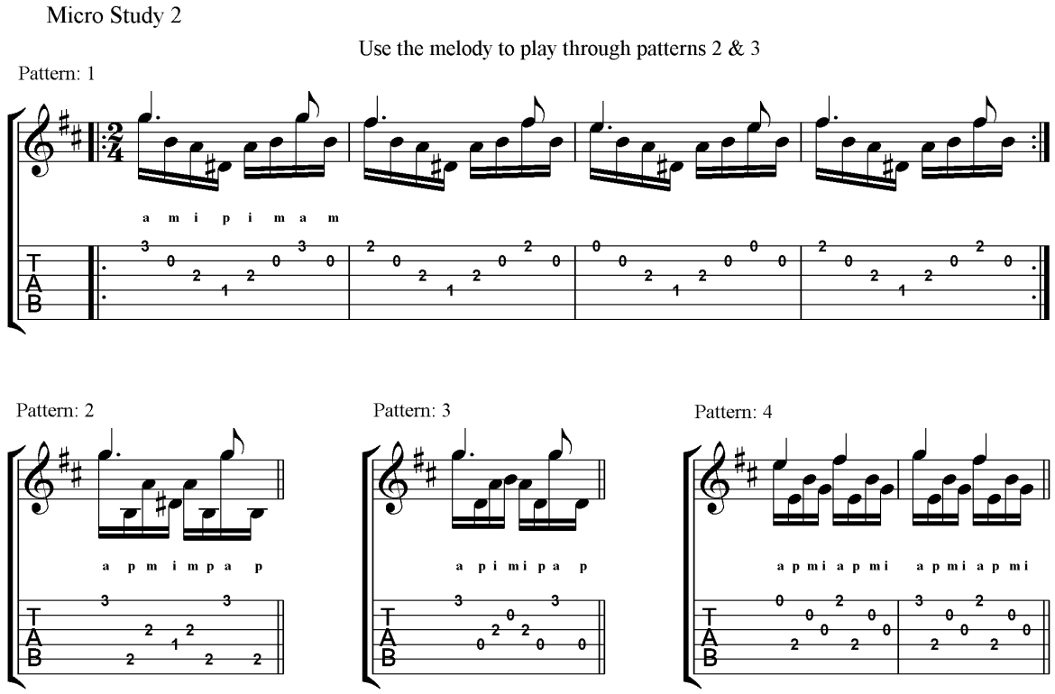 Classical Guitar Method Barrios Prelude Micro Study 2