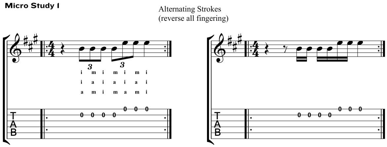 Classical Guitar Method Aguado Micro Study 1