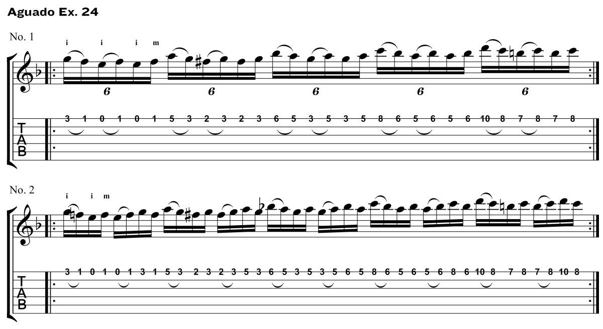 Classical Guitar Method Aguado ex24