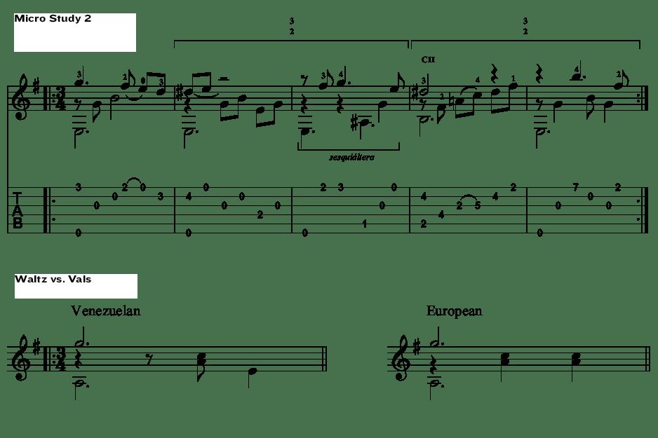 Classical Guitar Antonio Lauro Micro Study 2 waltz