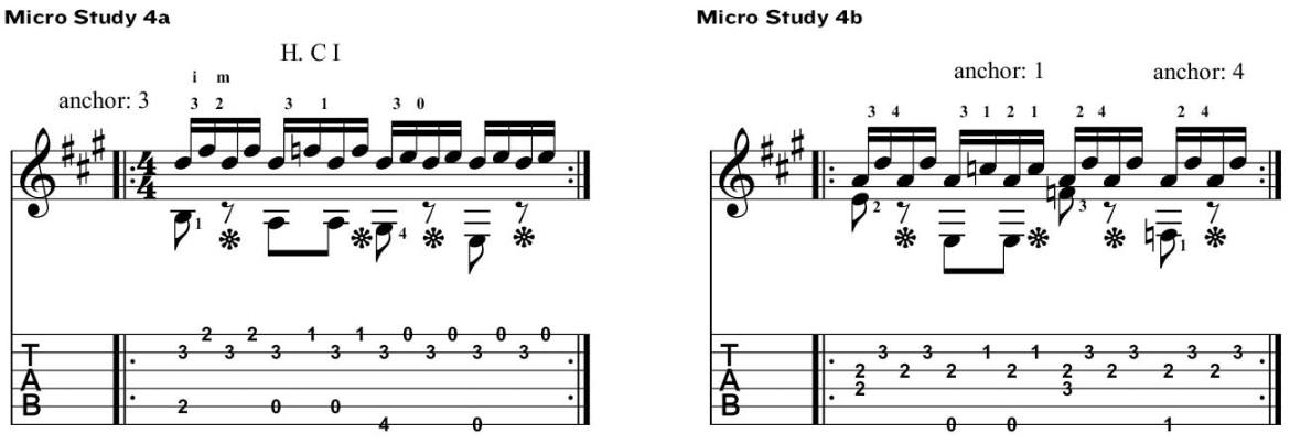 napolean coste classical guitar method micro study 4ab