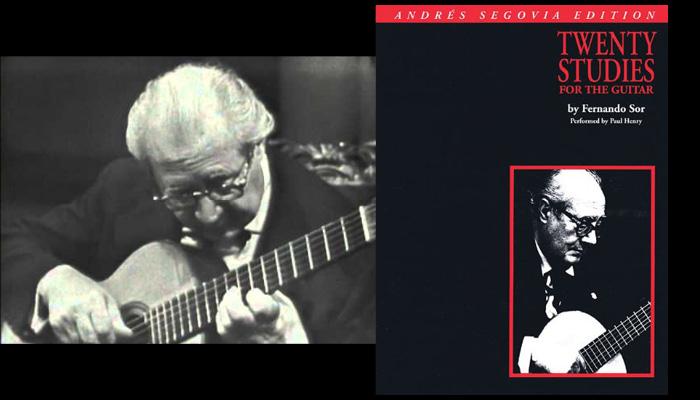 segovia sor studies classical guitar book