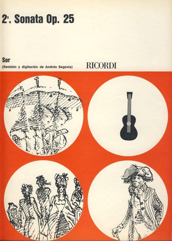 sor sonata 2, op 25 classical guitar book