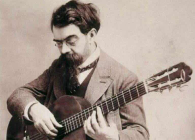 Francisco Tarrega with guitar