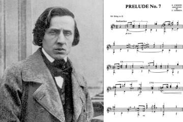 chopin prelude no 7 arranged for classical guitar by francisco tarrega