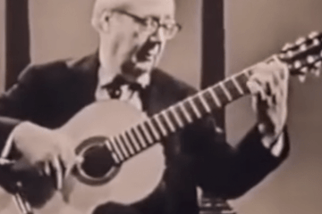 classical guitarist andres segovia playing 6 lute pieces as transcribed by Chilesotti