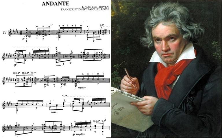 "classical guitar music Beethoven ""andante"""
