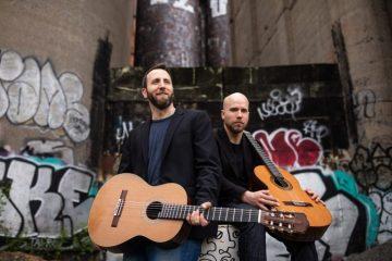 Classical guitarists Adam Cicchillitti and Steve Cowan
