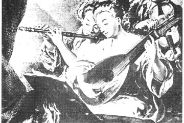 angels playing lute and flute