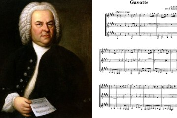Classical Guitar music for J.S. Bach's Gavotte