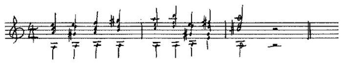 Classical guitar sight reading example 4