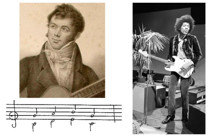 Classical guitar forbidden fifths fernando sor and jimi hendrix with parallel fifths notation
