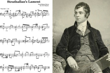 classical guitar music to play Strathallan's Lament