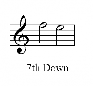 Seventh note voice leading