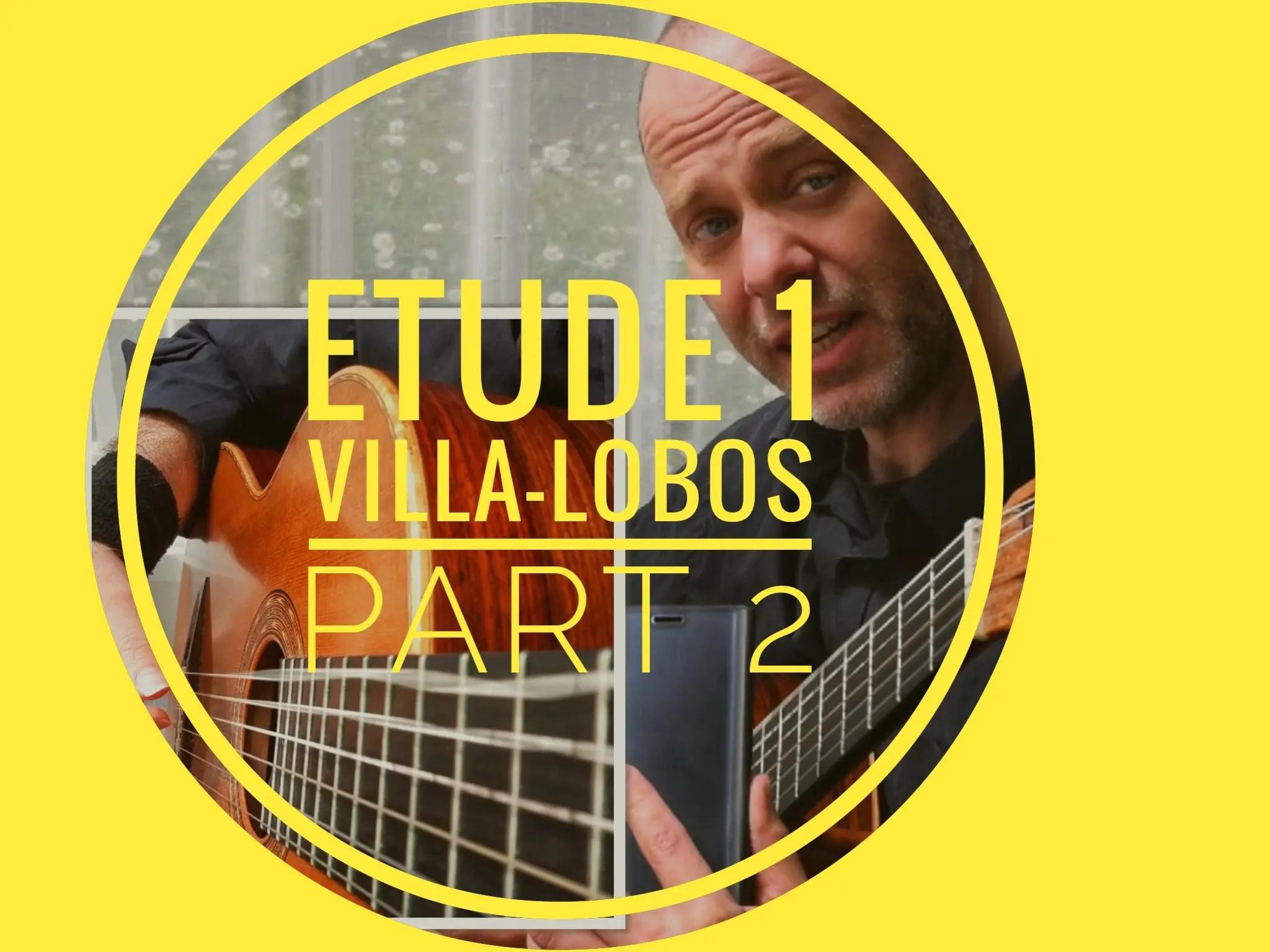 Approaching Etude No. 1 Villa-Lobos