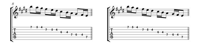 Villa-Lobos scales Micro study 1c Skip rhythms
