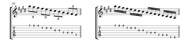 Villa-Lobos scales Micro study 1c Straight rhythms
