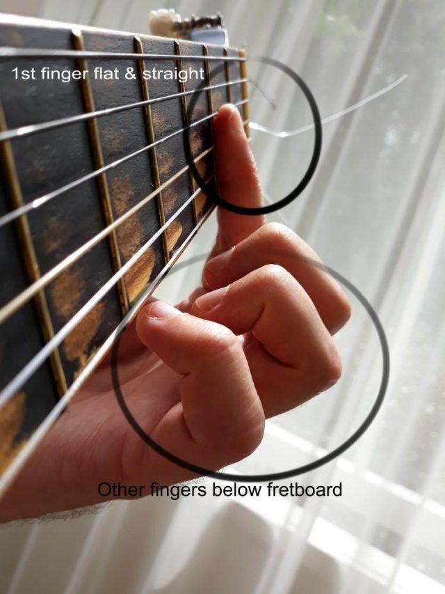 Half barre chord erros
