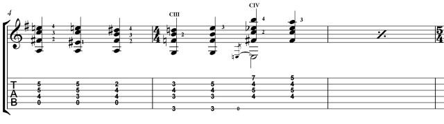 #villalobos12in12 challange etude 4 chords