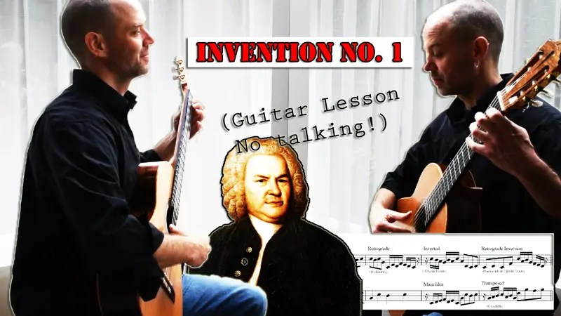 Bach Guitar Lesson – Invention 1
