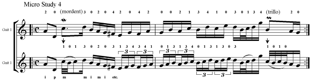 Bach guitar lesson how to ornament
