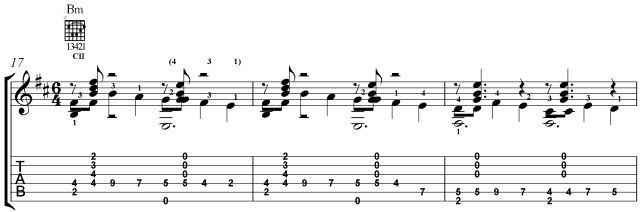 prelude 5 villa lobos guitar lesson section B