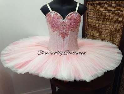 Classical Ballet Tutu - non Stretch - apricot and cream