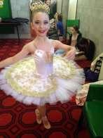 Classical Ballet tutu - stretch tutu - white and gold