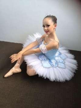 Classical Ballet tutu - stretch tutu - pale blue and white