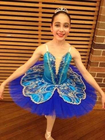 Classical Ballet Tutu - stretch tutu - royal blue and turquiose