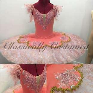 Coral and pink stretch tutu