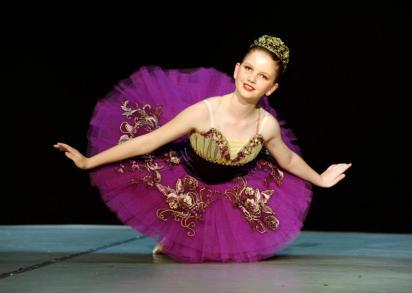 Classical Ballet tutu - non-stretch - plum