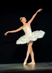 Classical Ballet Tutu - non Stretch - white and gold