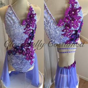 Crushed Velvet Lyrical Dance Costume