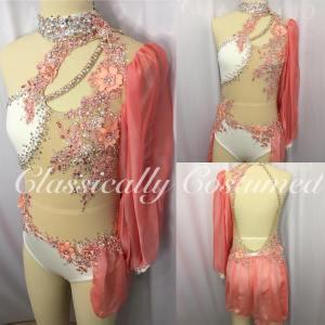 Cream and Apricot Lyrical Dance Costume